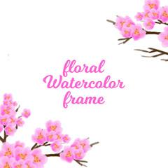 vintage frame flower watercolor ornament design