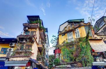 Fotomurales - Hanoi old quarter, landmarks, Vietnam