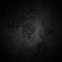 Abstract vector black geometric background. Vector backdrop from many shapes can be used for annual reports, book cover and other cases. Vector illustration. EPS10