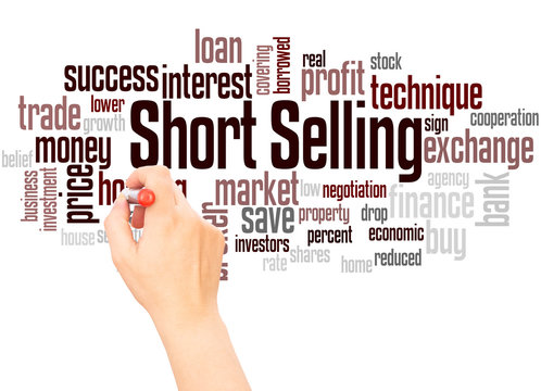 Short Selling word cloud hand writing concept