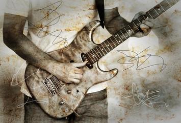 Gitarrist in Grunge