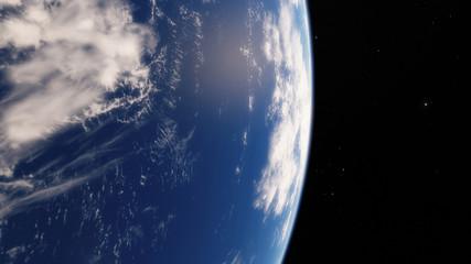 Near Space, earth, blue planet.