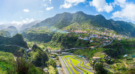 Wall Mural - View of Faial village and Go-kart track, Madeira island, Portugal