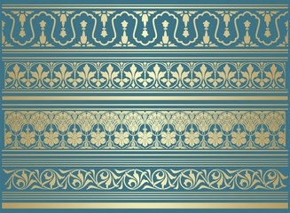 paisley floral pattern, textile , Rajasthan, royal India Wall mural