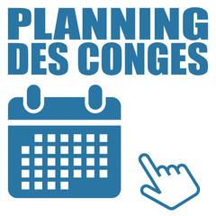 Logo planning des congés.
