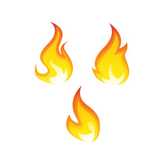 Isolated fire set vector