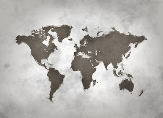 World map digital painting