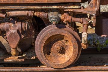 機械部品の鉄の錆 Rust of iron mechanical parts