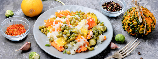 Lean vegetable risotto