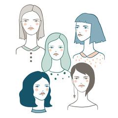Girl Characters Avatars.
