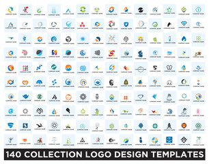 Set of logo design templates
