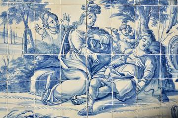 Azulejos bleus à Tolède en Espagne
