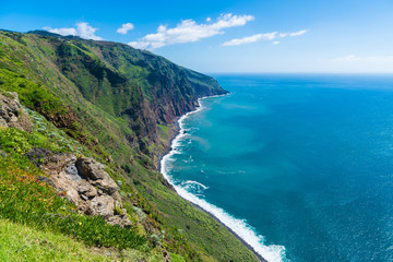 Wall Mural - Landscape on Madeira islands, view from Ponta do Pargo, Portugal