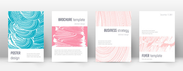 Cover page design template. Minimalistic brochure