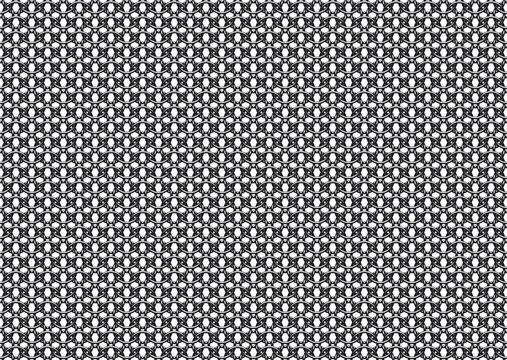 Seamless vector pattern of european '6 in 1' chain mail