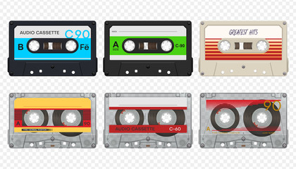 Vector compact audio cassettes collection #1