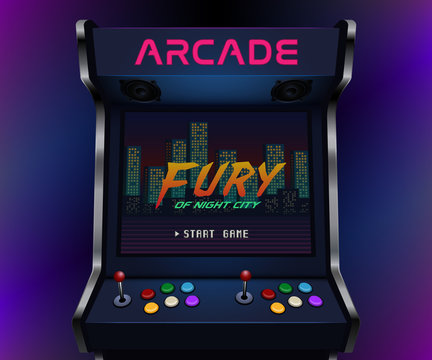 Retro arcade machine. Vector illustration