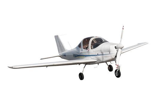 small plane on white