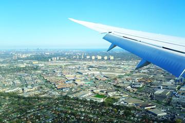 Landing airplane, Toronto Pearson International Airport