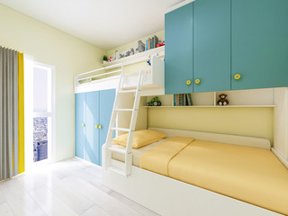Modern and welcoming children's bed bedroom