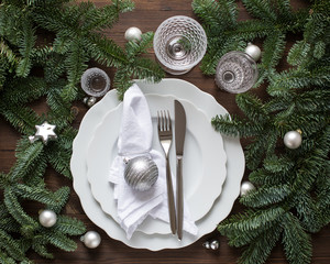 Christmas table setting - Weihnachtstafel
