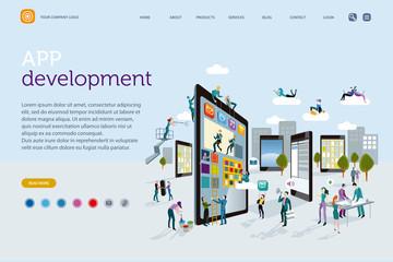 App Development Creative Concept Web Template