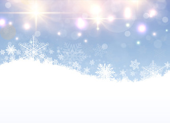 Christmas winter background with snowflakes, snow vector background.