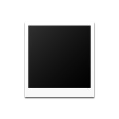Photo frame on an illuminated background. Vector illustration.