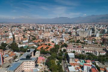 Aerial View of Cochabamba, Bolivia at daytime