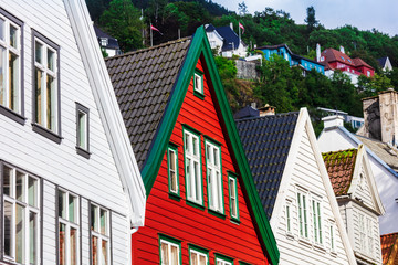 Historical houses of Bergen city