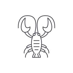 Crayfish line icon concept. Crayfish vector linear illustration, symbol, sign