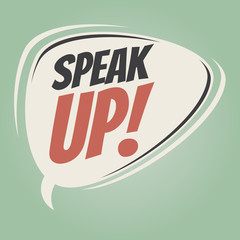 speak up retro speech balloon