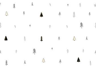Winter forest seamless pattern. Fabric print element.