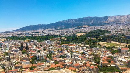 aerial view of the city Grece