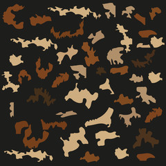 camouflage pattern vector illustration