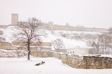 Fortress under snow