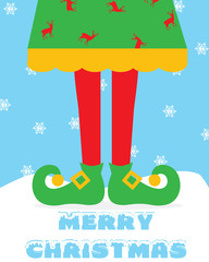 Christmas-Merry & Colorful Elf Legs