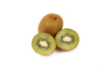 kiwi fruit isolated on a white background - fresh kiwi fruits