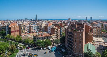 Panoramic view of Barcelona, Catalonia, Spain