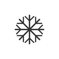 Snowflake icon, frozen sign. Vector illustration, flat design.