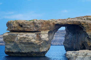 "Rock formation called ""Azure Window"" on Maltese island of Gozo"