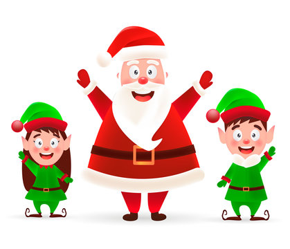 Merry Christmas! Happy Christmas companions. - stock vector