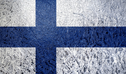 Abstract flag of Finland