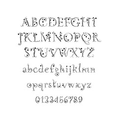 Vector Alphabet. Decorative magic font for Wedding Monogram, branding, Invitation. Isolated
