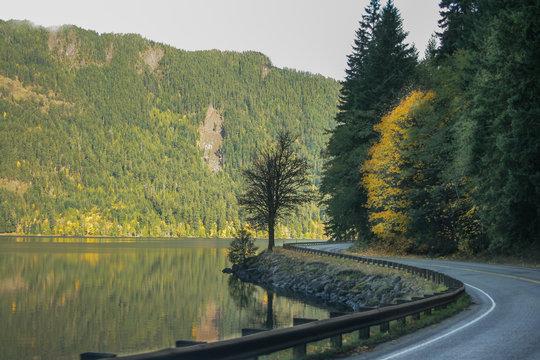 winding road lake crescent Washington state