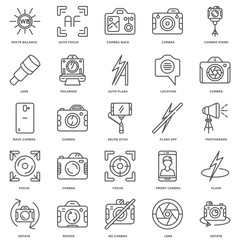 Simple Set of 25 Vector Line Icon. Contains such Icons as Rotate
