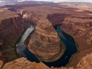 Beautiful Aerial View of the impressive Horseshoe bend in Arizona