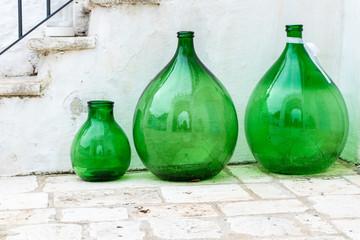 Glass amphora