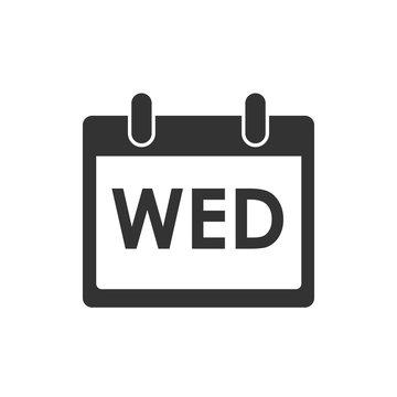 Calendar, day, event icon. Wednesday. Vector illustration, flat design.