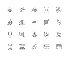 Simple Set of 20 Vector Line Icon. Contains such Icons as Browse
